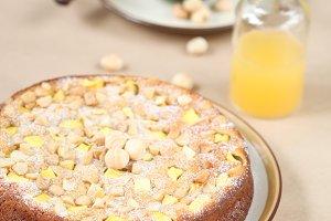 Mango Macadamia Cak