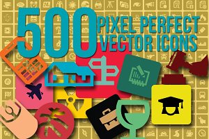 500 Vector Icons 50% Off