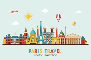 Paris skyline. Vector illustration