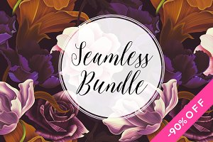 10 Floral seamless pattern bundle