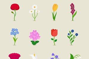 Stylized mod flowers