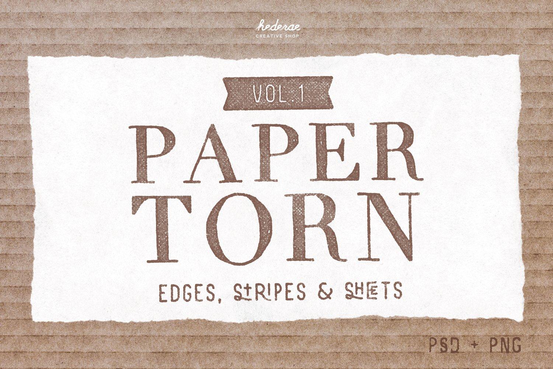 paper torn vol.1 (psd+png) ~ textures ~ creative market