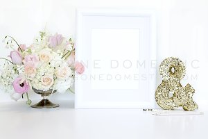 Frame Mockup Blush White and Gold