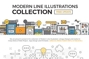 Modern Line Illustrations Collection