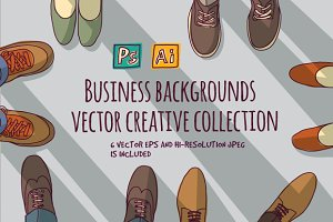 Vector business backgrounds set