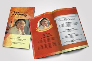 Funeral Program Bifold Template