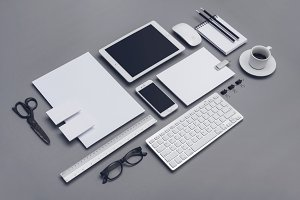 Corporate, responsive design mockup