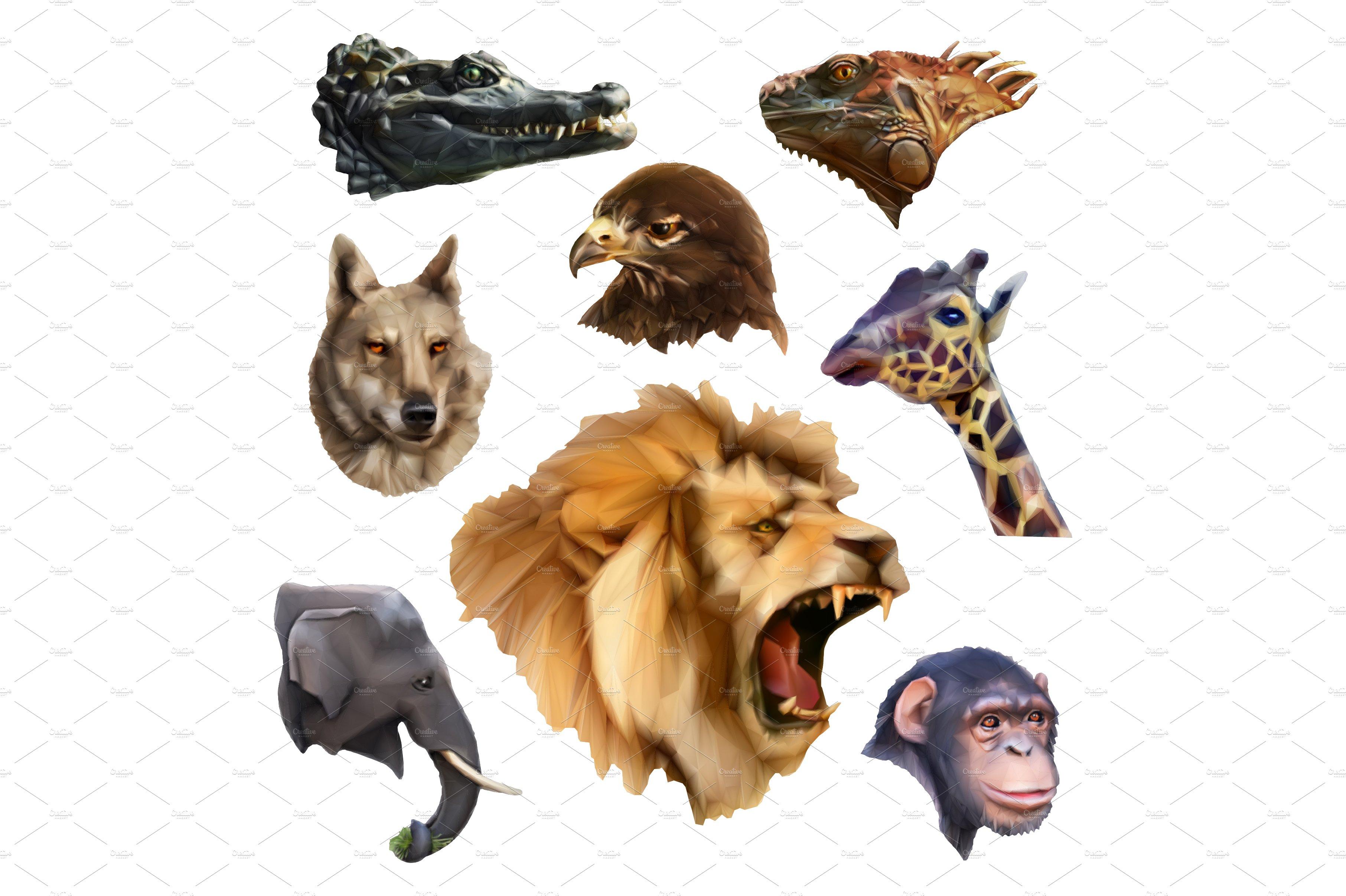 Animal Heads Icons Creative Market