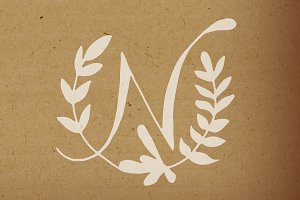 Botanical Monograms (solids) Vectors