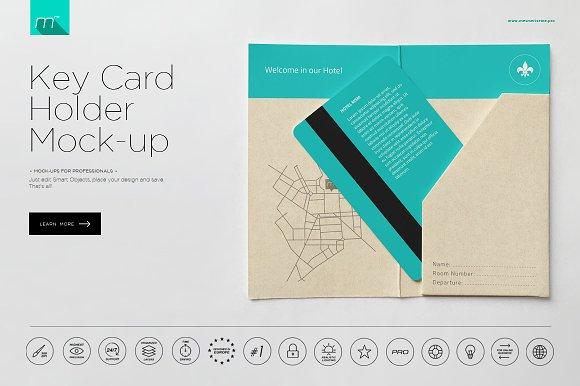 Download Hotel Key Card Holder Mock-up