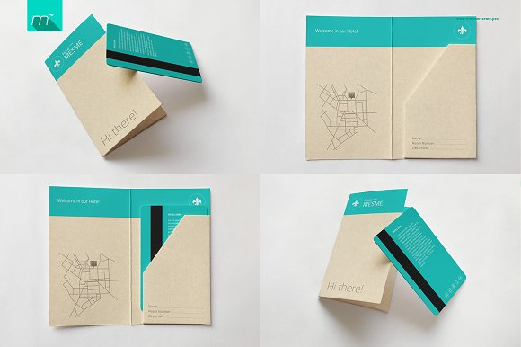 Hotel Key Card Holder Mock-up in Product Mockups - product preview 1