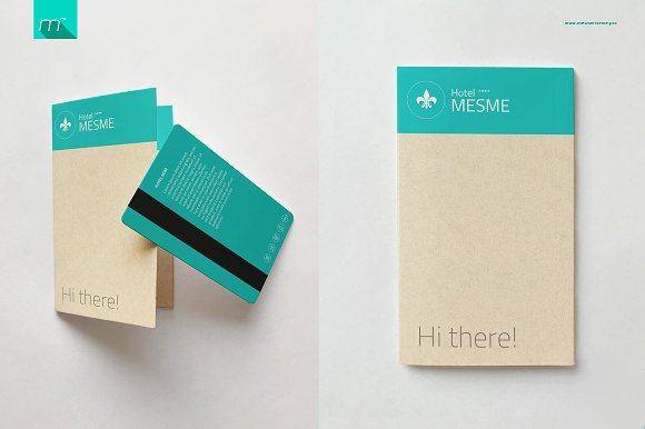 Hotel Key Card Holder Mock-up in Product Mockups - product preview 2