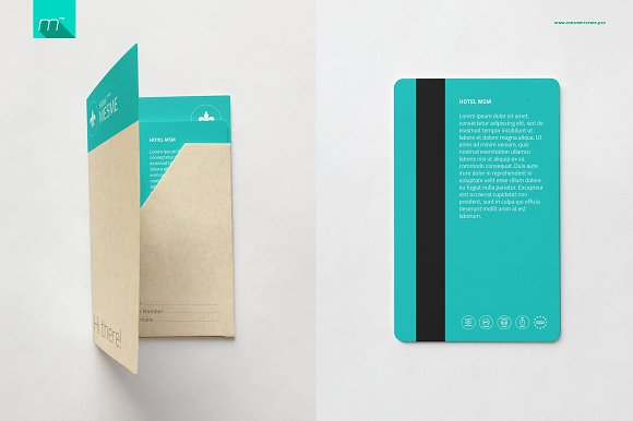 Hotel Key Card Holder Mock-up in Product Mockups - product preview 3