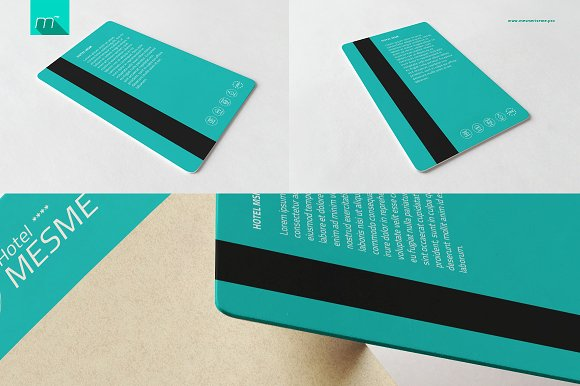 Hotel Key Card Holder Mock-up in Product Mockups - product preview 4