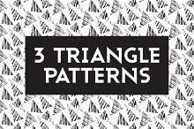 3 Seamless Triangle Patterns Vectors
