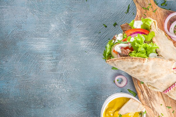 Turkish Kebab Wrap Sandwiches Containing Wrap Sandwich Wrap And Sandwich High Quality Food Images Creative Market