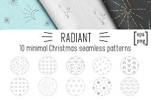 Minimal Christmas seamless patterns