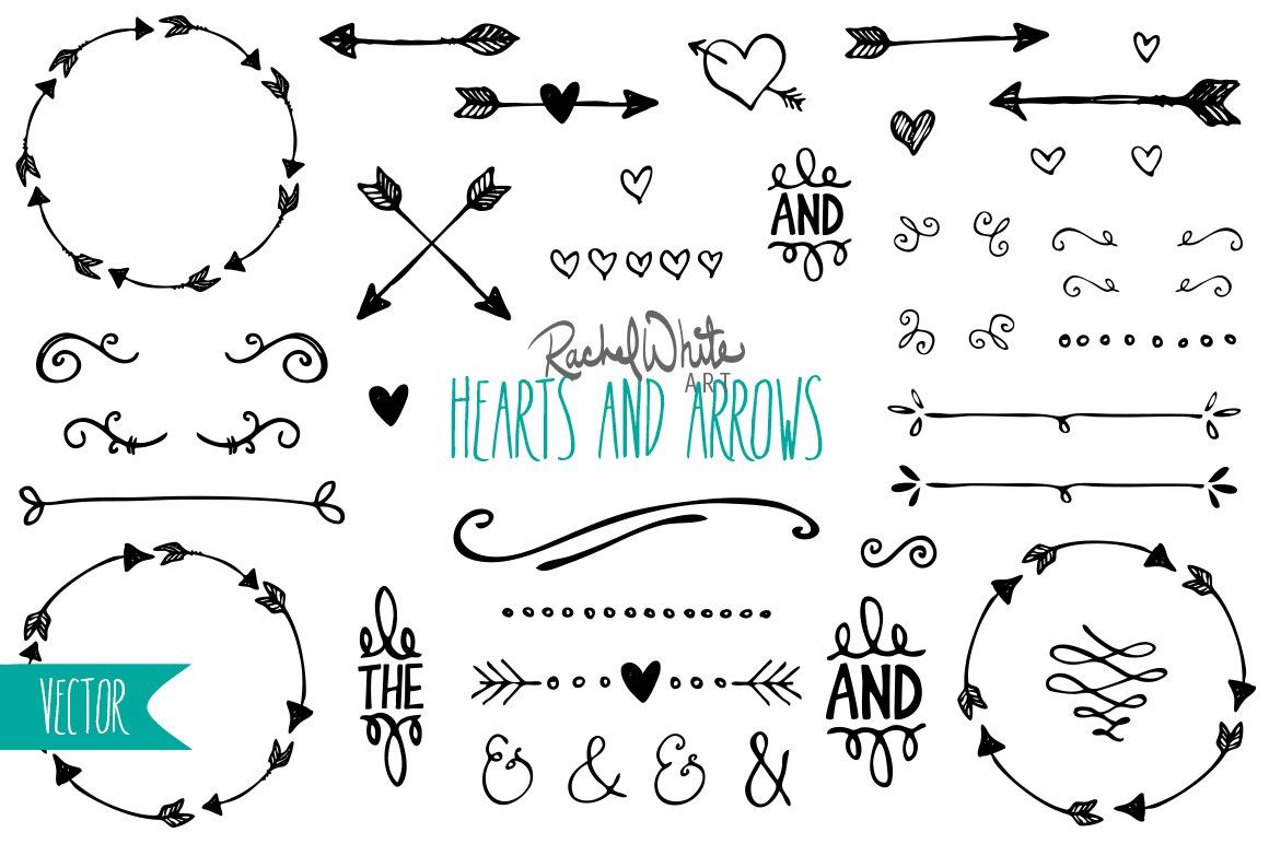 Heart Arrow Divider Photos Graphics Fonts Themes Templates