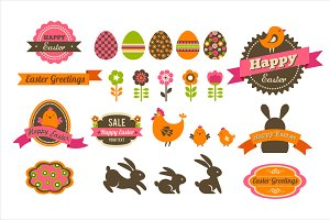 Easter icons & patterns bundle