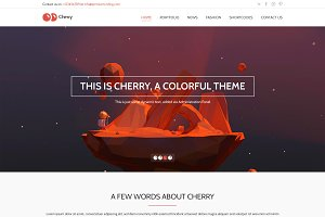 Cherry - One Page PSD Template