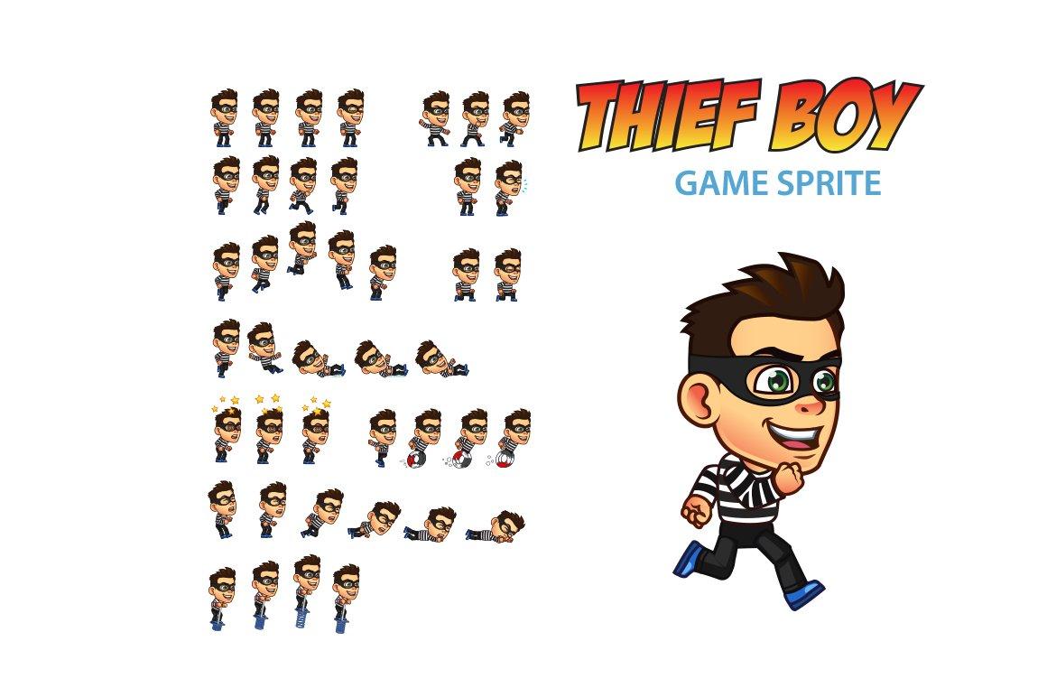 Thief Boy Game Sprite Illustrations Creative Market