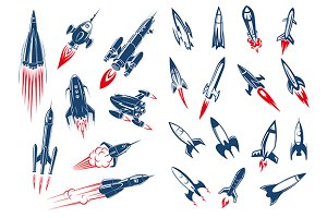 Spave rocket ships and missiles