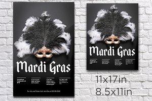 Mardi Gras/Masquerade Party Poster