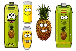 Pineapple fruit and juice