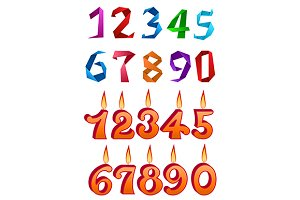 Numbers and origami digits