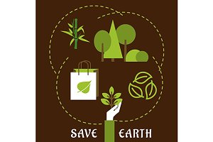 Save Earth, environment and ecology