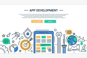 App Development Illustration Header