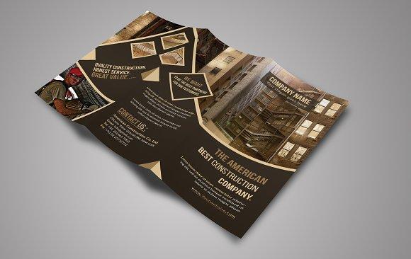 construction tri fold brochure brochure templates creative market