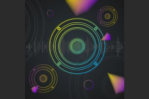 Music Background Colorful . Vector