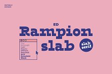 ED Rampion Slab by  in Fonts