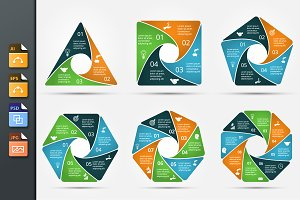Infographics template set v.18