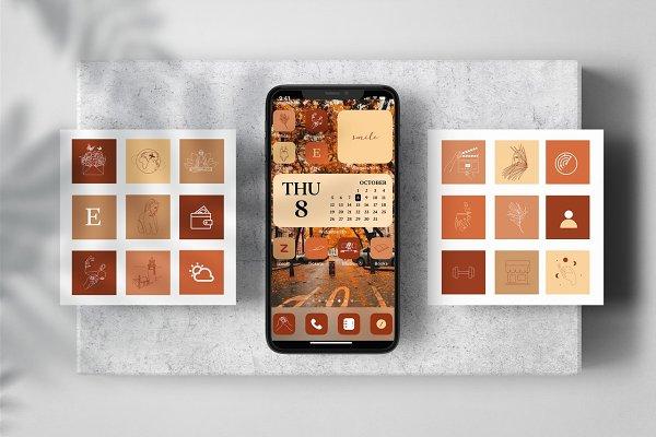 Fall Aesthetic 163 Ios App Icons Custom Designed Icons Creative Market