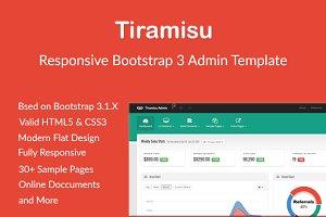Tiramisu - Responsive Admin Template