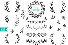Winter Laurels - Vector & PNG