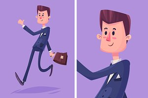 Vector cartoon business man