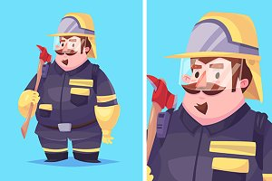 Vecto  illustration of fireman