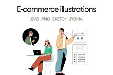 E-Commerce Illustrations by  in Graphics