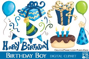 BIRTHDAY BOY - Digital Clipart