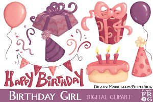 BIRTHDAY GIRL - Digital Clipart