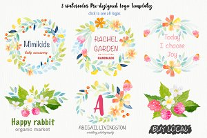 Watercolor Botanical DIY pack