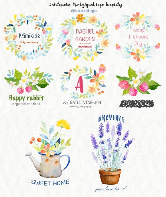 Watercolor Botanical DIY pack