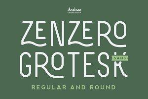 Zenzero Grotesk Sans (Regular+Round)