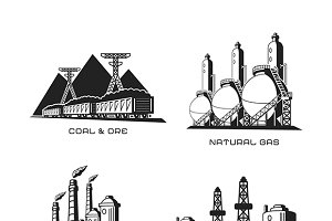 Retro industrial infographics