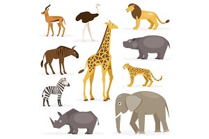 Set savanna animals