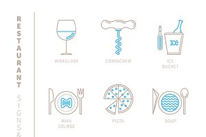 Restaurant signs & symbols