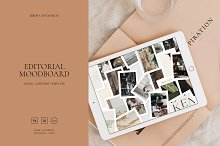 Editorial Moodboard Template by  in Mockups